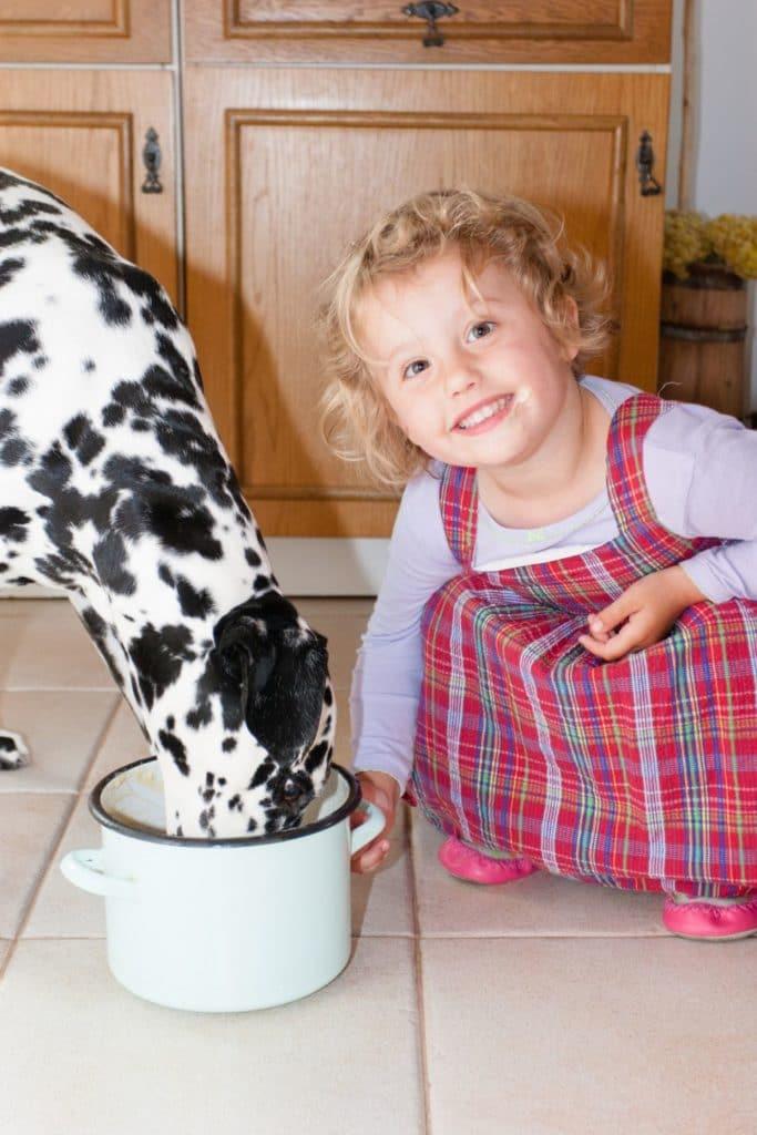Kleinkinder und Dalmatiner
